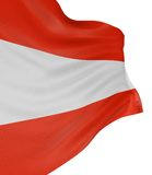 3D Austrian flag. With fabric surface texture. White background Royalty Free Stock Photography