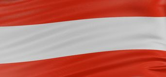 3D Austrian flag Royalty Free Stock Photos