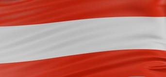 3D Austrian flag Royalty Free Stock Photos