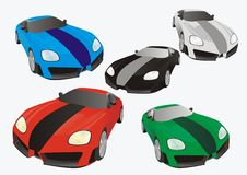3d auto silhouette. Vector 3d different auto silhouettes Royalty Free Stock Images