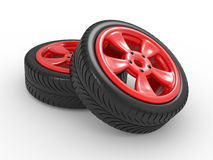 3D automobile wheel Royalty Free Stock Photography