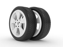 3D automobile wheel Stock Images