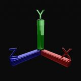 3d axis. Coordinate axis, three-dimensional axis Royalty Free Stock Image