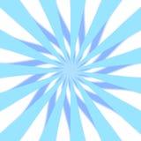 3D azul Starburst Foto de archivo