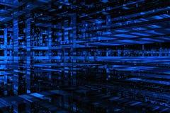 3d błękit przestrzeń Zdjęcia Royalty Free