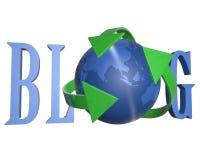 3d błękitny blogu słowo royalty ilustracja