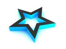 3d błękitny gwiazda Zdjęcia Royalty Free