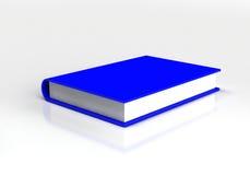 3d błękitny książki odosobniony biel Obrazy Stock