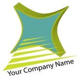 3d błękitny zieleni ilustraci logo Ilustracja Wektor