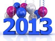 3d błyszczący ballons i dane 2013 Zdjęcia Stock