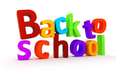 3d back to school text Stock Image