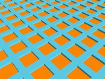 3d background 11. 3d blue orange node background Royalty Free Stock Image