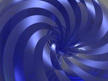 3d background. 3d blue reflection swirl background (see more in portfolio Stock Image