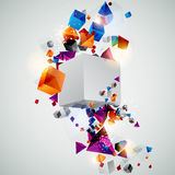 3D Background. Background of 3d geometric shapes Stock Photos