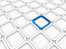 3d background area cube. Blue white structure Royalty Free Stock Photography