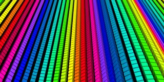3D background - colorful cube wave 01 Stock Images