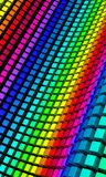 3D background - colorful cube wave 02 Royalty Free Stock Photos