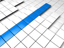 3d background cube blue white. Success graph Stock Images
