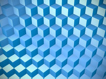 3d background with cubes. 3d render Stock Photo