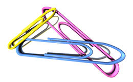 3D background with paper clips. 3D background with colorful paper clips Stock Image