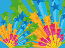 3d background stars Ελεύθερη απεικόνιση δικαιώματος