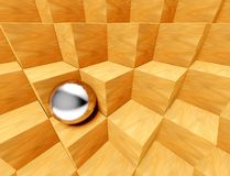 3d background symbol of individualism Stock Photography