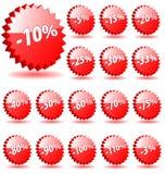 3d badges l'escompte Photos stock