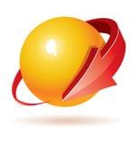 3d Bal met pijlenontwerp Royalty-vrije Stock Afbeeldingen