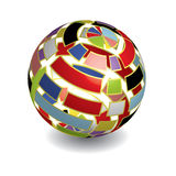 3D ball. 3D colorful ball with shadow Royalty Free Stock Photography