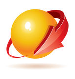 3d Ball with arrows design. For your business artwork Royalty Free Stock Images