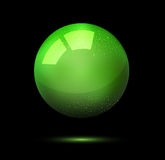 3d ball on a black background. Green vector, a brilliant 3d ball on a black background Stock Images