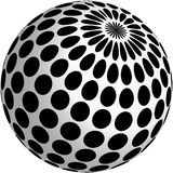 3d ball design with black dots. On white Royalty Free Stock Photos
