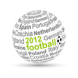 3D ball football 2012 Royalty Free Stock Photography