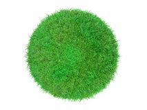 3d ball of grass lawn. 3d ball with grass is rendered by computer graphics software (Blender Royalty Free Stock Image