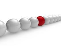 3d ball red white line. 3d ball red white network sphere team vector illustration