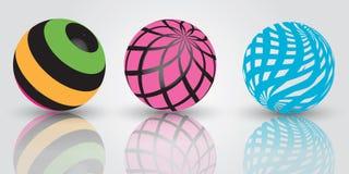 3d ballen stock illustratie