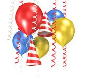 3d ballons błyszczący Zdjęcie Stock