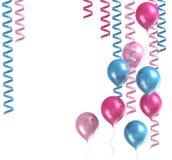 3d ballons purpurowi Obrazy Royalty Free
