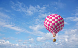 3d balloon in the blue sky. 3d hot air balloon in the blue sky Stock Images