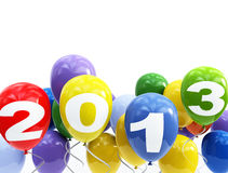 3d balloons 2013 Stock Photo