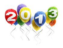 3d balloons 2013 Stock Images