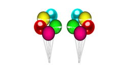 3d Balloons. On a white background royalty free illustration
