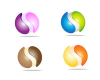 3d balls. Nice colors 3d balls on white bacgkround Royalty Free Stock Photo