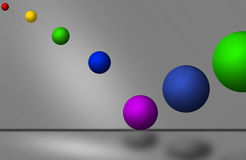 3d balls background. 3D balls with metal background Stock Photos