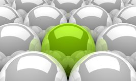 3d balls green silver 01 Royalty Free Stock Image