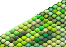 3d balls in multiple bright green. Isometric 3d render of balls in multiple bright green Stock Photo