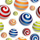 3d balls pattern. In editable vector format Royalty Free Stock Photography