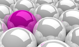 3d balls pink silver 02. A group of balls silver and pink Royalty Free Stock Photography