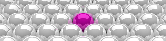 3d balls pink silver 03 Stock Photos