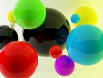 3d balls render background Royalty Free Stock Image
